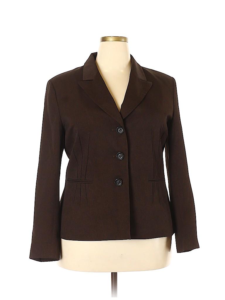 Evan Picone Women Blazer Size 18 (Plus)