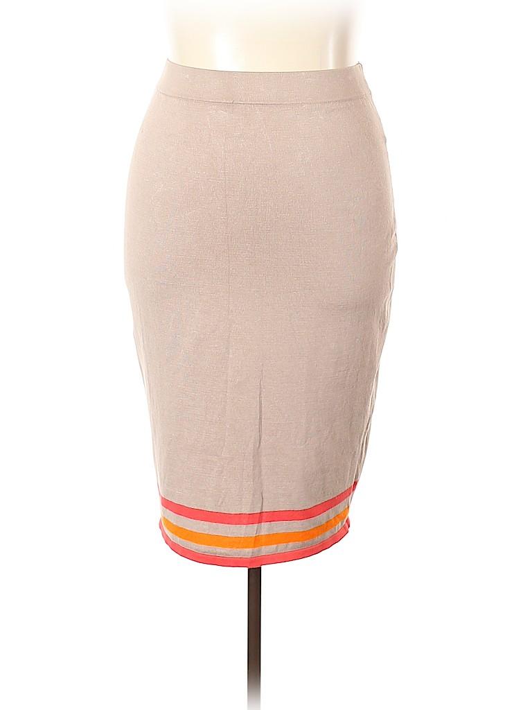 Allison Brittney Women Casual Skirt Size 2X (Plus)