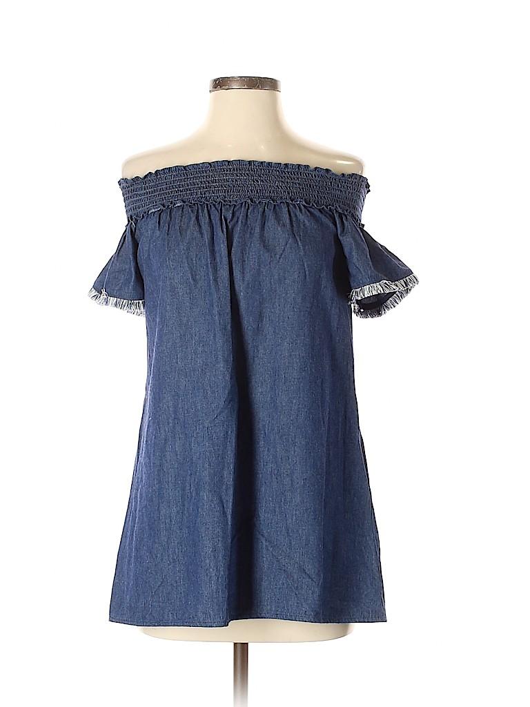 Nicole Miller New York Women Short Sleeve Blouse Size 4
