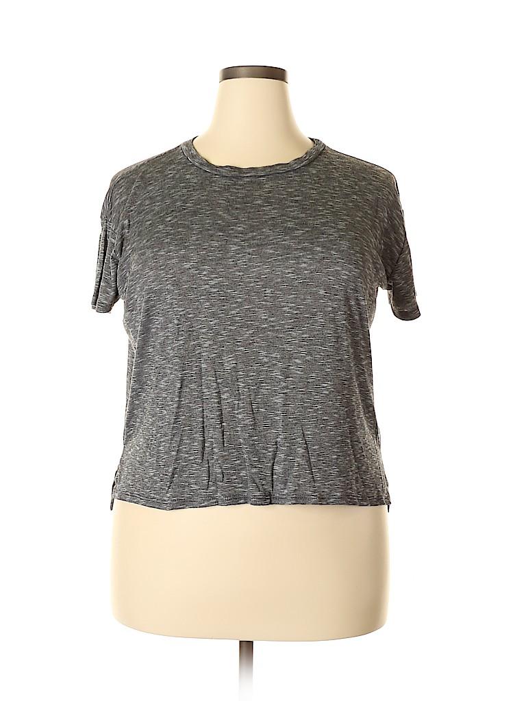 Forever 21 Women Short Sleeve T-Shirt Size L