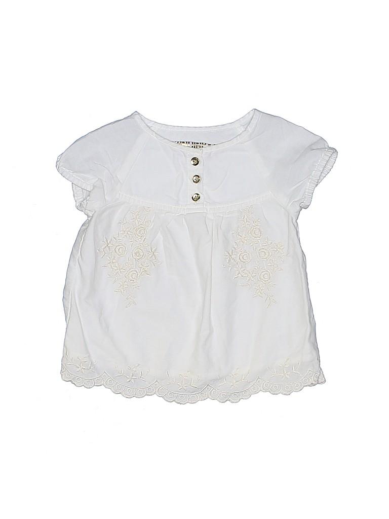 Genuine Kids from Oshkosh Girls Short Sleeve Blouse Size 18 mo