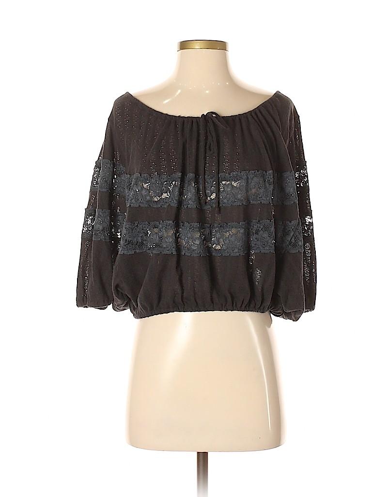 Free People Women 3/4 Sleeve Top Size XS