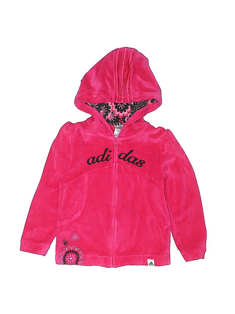 Adidas Girls Zip Up Hoodie Size 5T