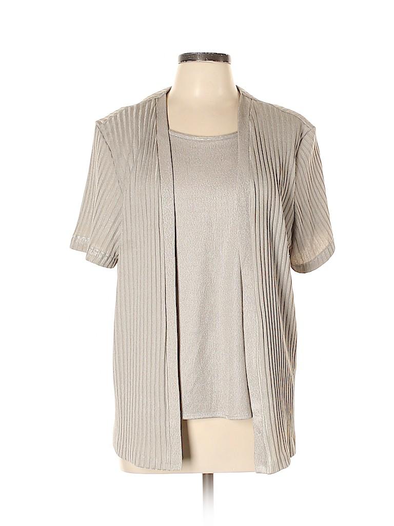 Alfred Dunner Women Short Sleeve Top Size L (Petite)