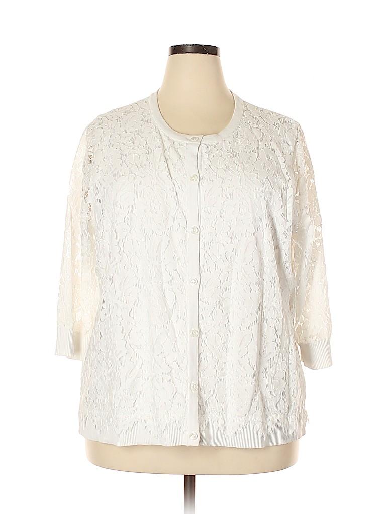 Isaac Mizrahi LIVE! Women Cardigan Size 2X (Plus)