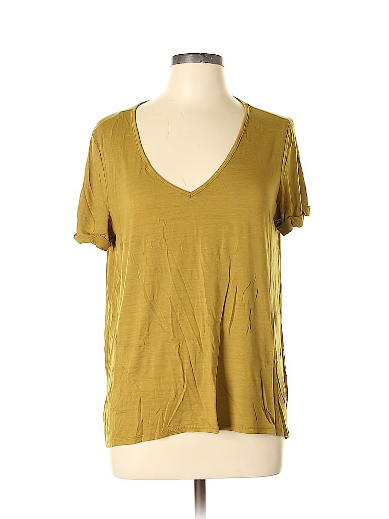 Harlowe & Graham Women Short Sleeve T-Shirt Size L