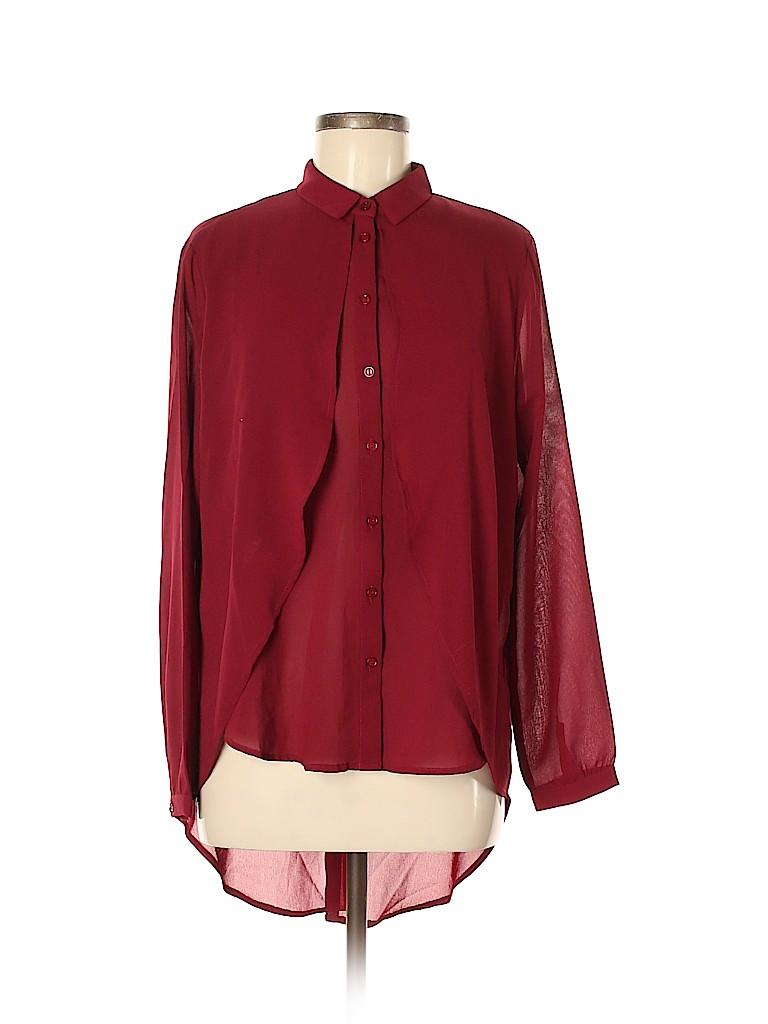 Lush Women Long Sleeve Blouse Size M