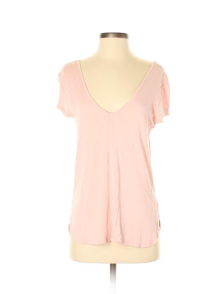 Bordeaux Women Short Sleeve Top Size XS