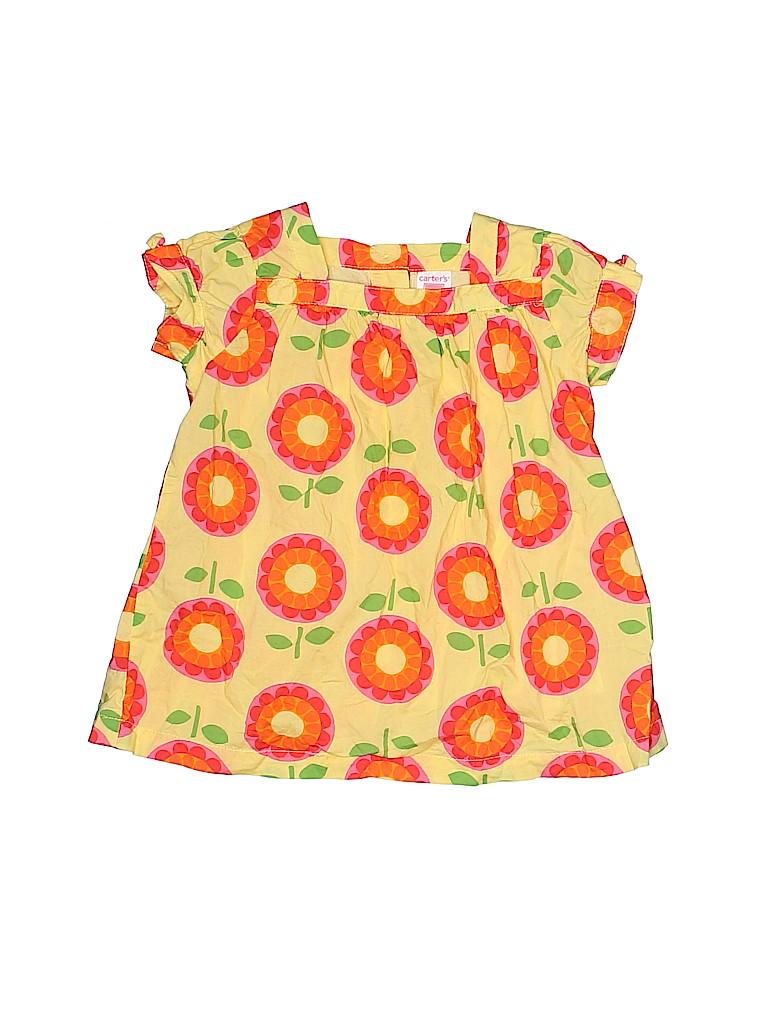 Carter's Girls Short Sleeve Blouse Size 18 mo
