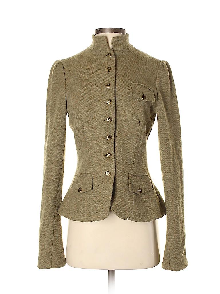 Lauren by Ralph Lauren Women Wool Blazer Size S