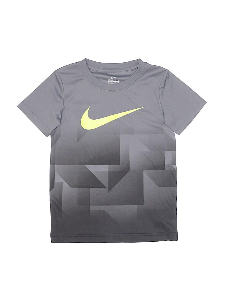 a19e7a61 Nike 100% Polyester Print Gray Active T-Shirt Size 6 - 60% off | thredUP