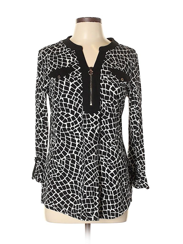 Jones New York Signature Women 3/4 Sleeve Top Size L