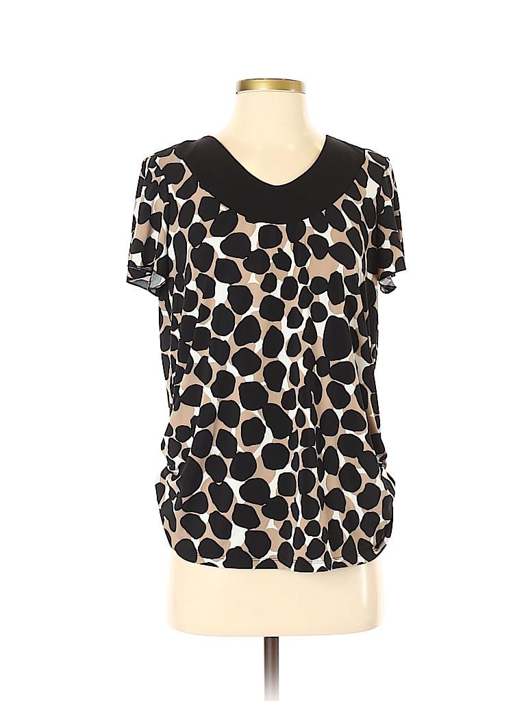 Susan Graver Women Short Sleeve Top Size S