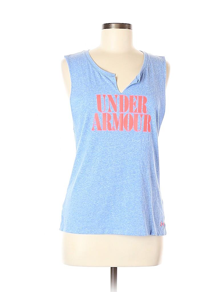 Under Armour Women Sleeveless T-Shirt Size L