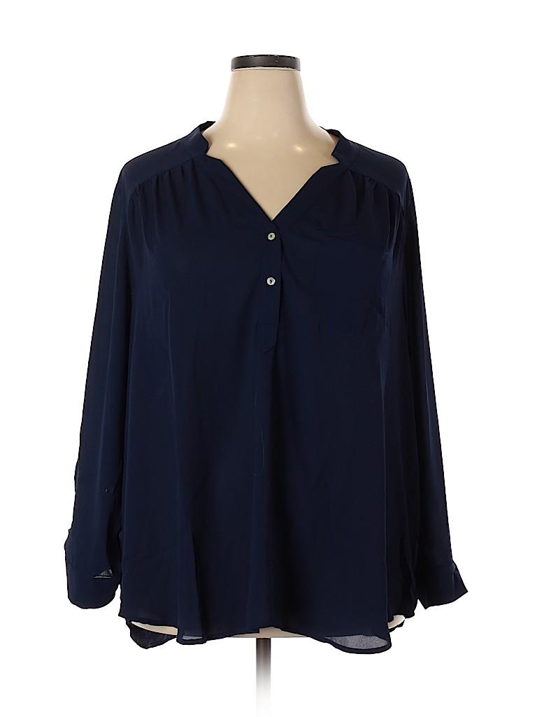 Fervour Women Long Sleeve Blouse Size 3X (Plus)