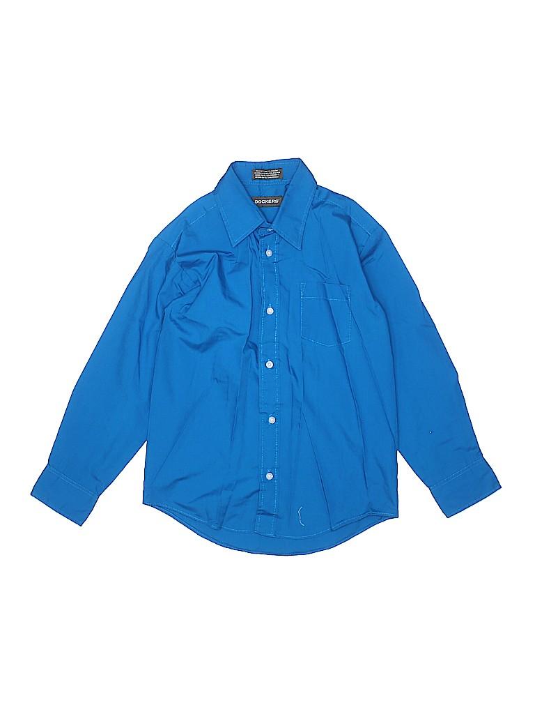 Dockers Boys Long Sleeve Button-Down Shirt Size 10