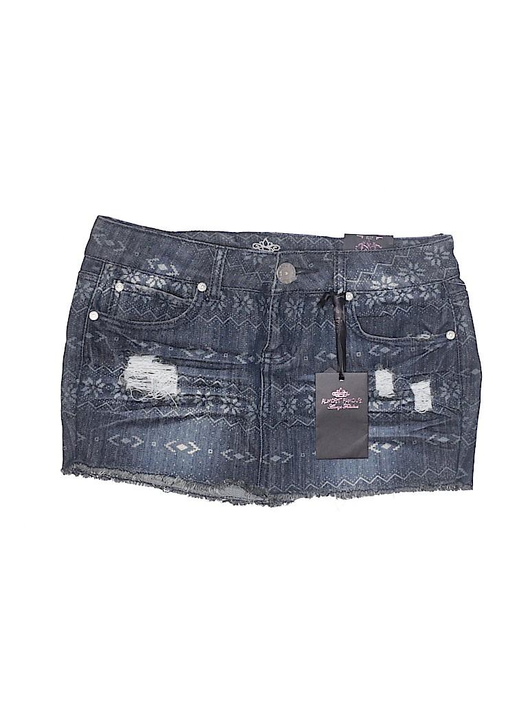 Almost Famous Women Denim Skirt Size 7