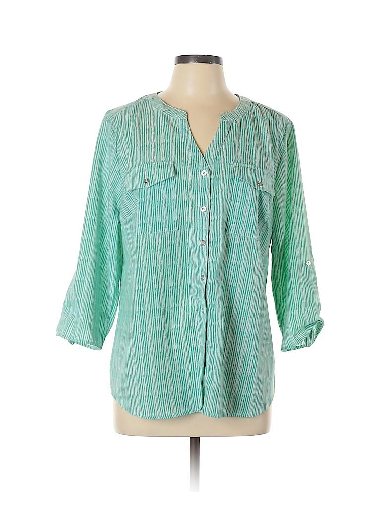 Notations Women 3/4 Sleeve Blouse Size XL