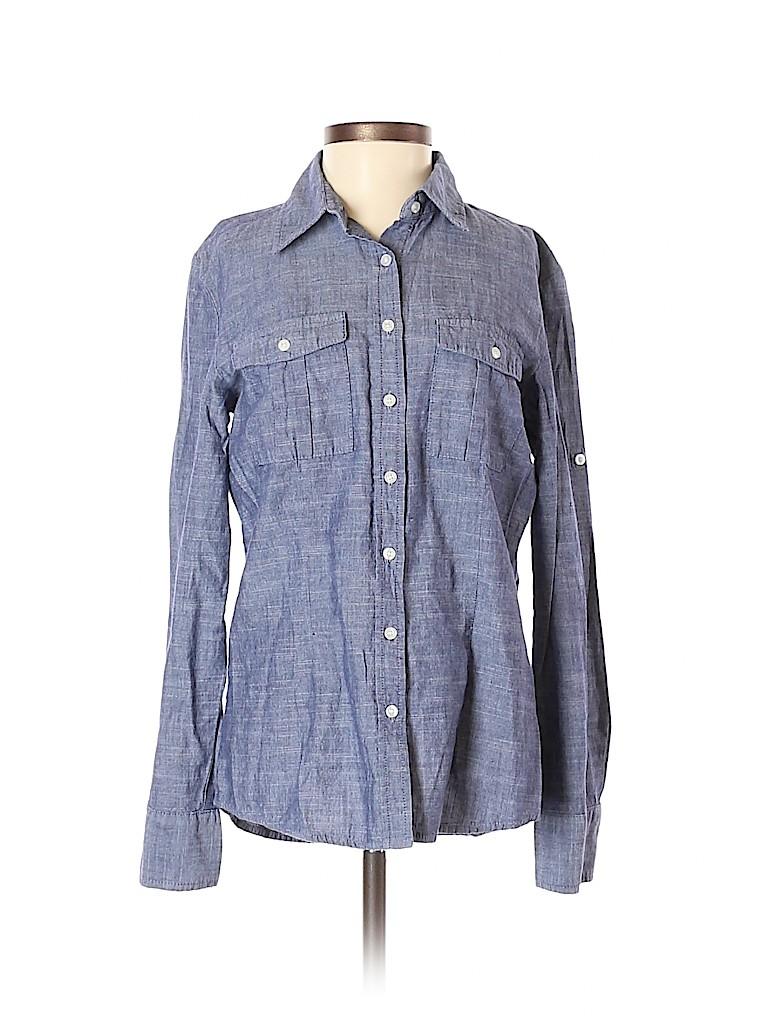 Shade Women Long Sleeve Button-Down Shirt Size S