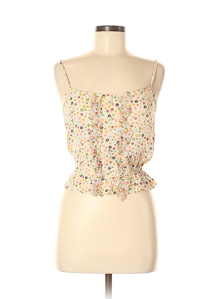 Petro Zillia Women Sleeveless Silk Top Size M
