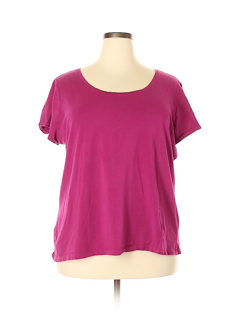 Chelsea & Theodore Women Short Sleeve T-Shirt Size 3X (Plus)