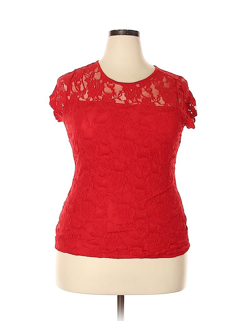 Bobbie Brooks Women Short Sleeve Top Size 1X (Plus)