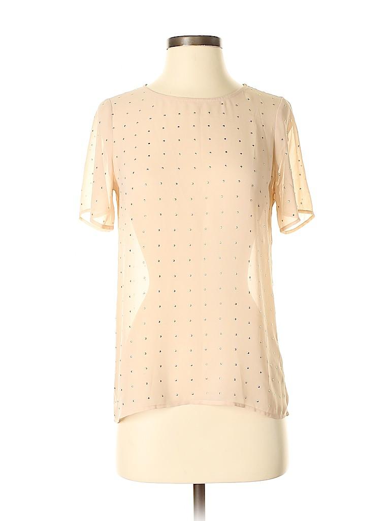 Broadway & Broome Women Short Sleeve Blouse Size XS