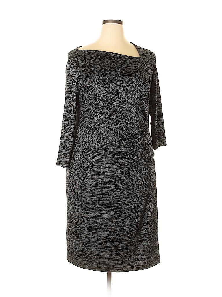 Talbots Women Casual Dress Size 1X (Plus)