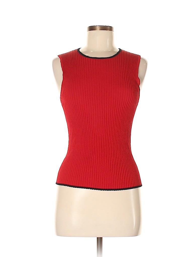 Anne Klein Women Sleeveless Silk Top Size M