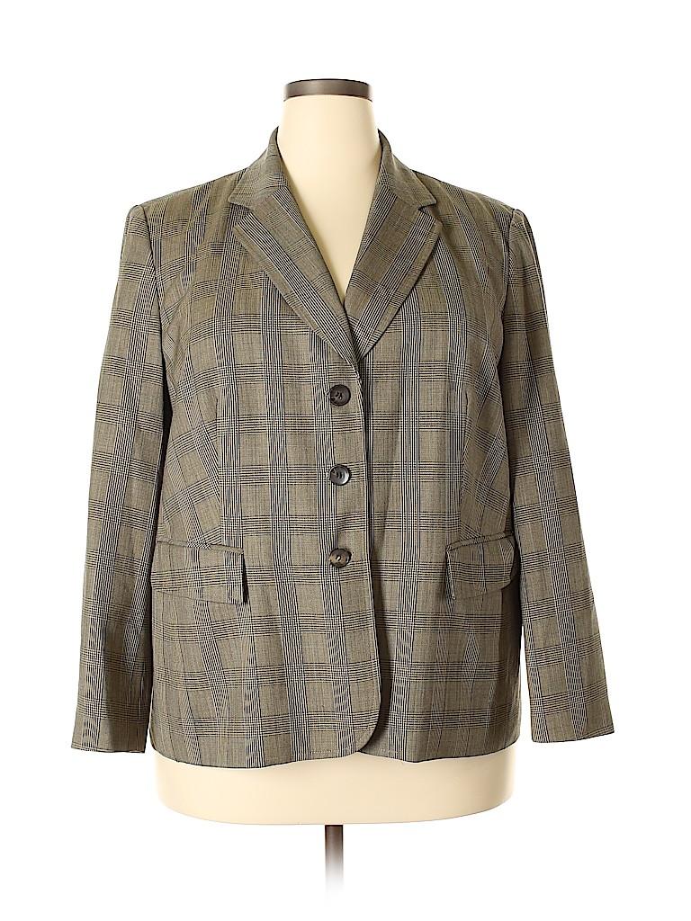 Talbots Women Wool Blazer Size 18W (Plus)