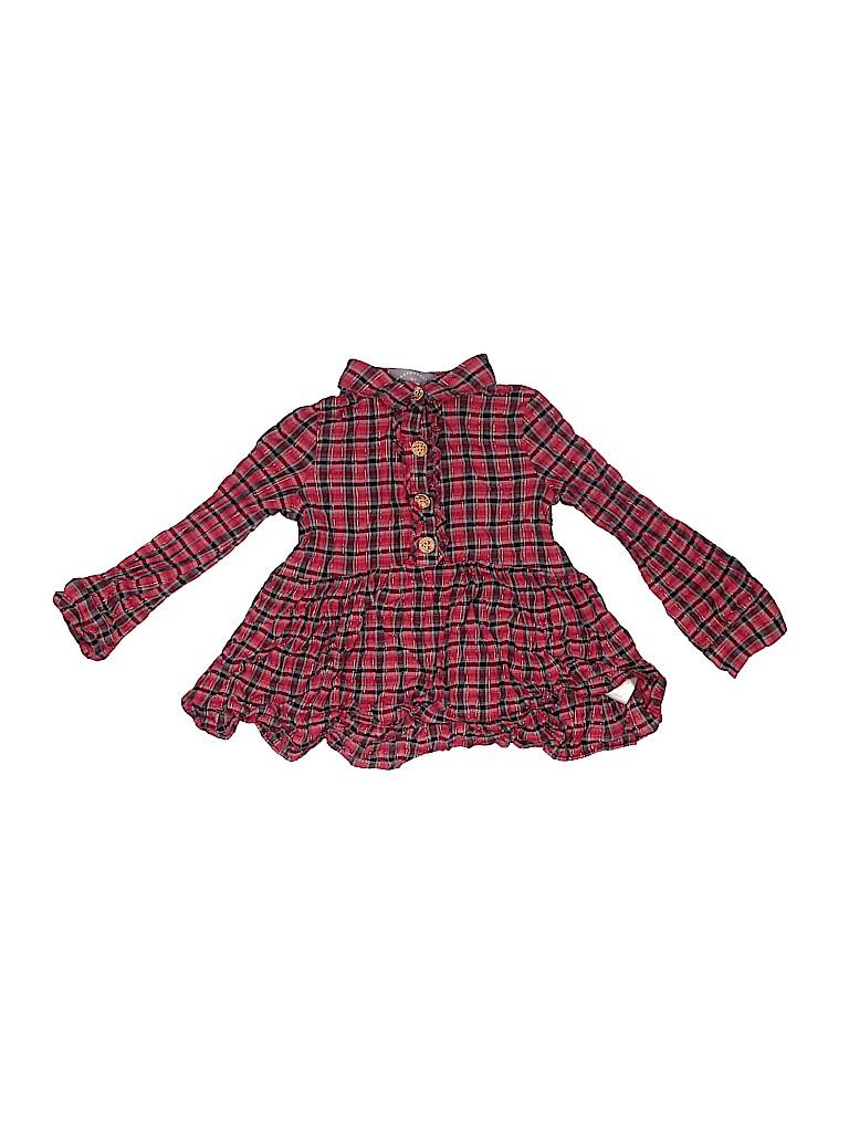 Pippa & Julie Girls Long Sleeve Button-Down Shirt Size 3T