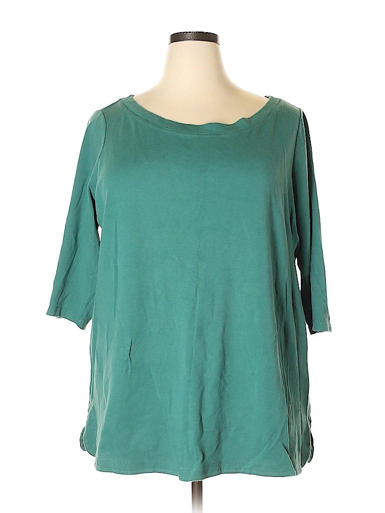 Isaac Mizrahi LIVE! Women 3/4 Sleeve T-Shirt Size 3X (Plus)