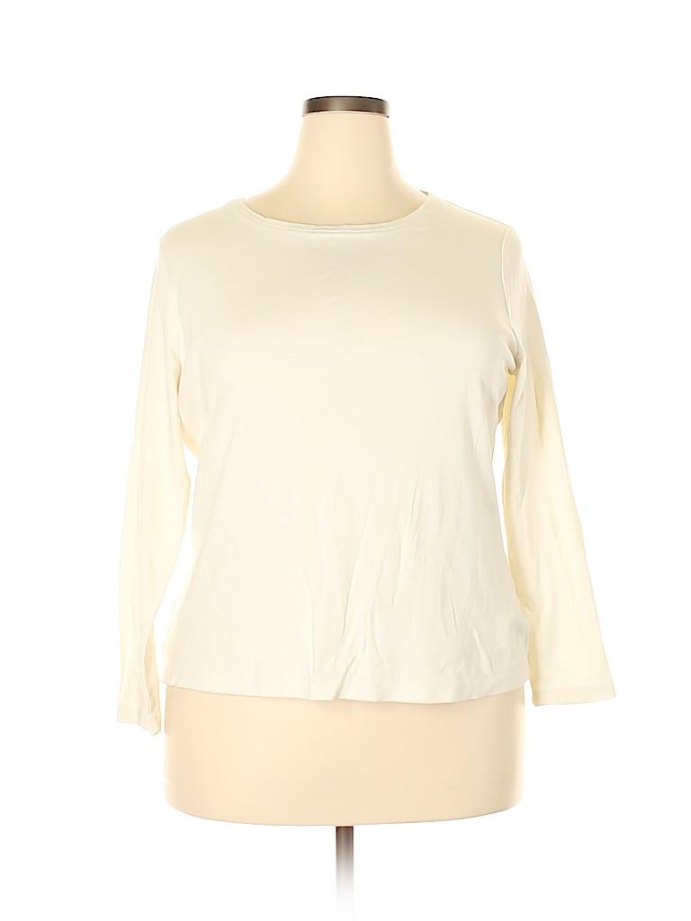 Talbots Women Long Sleeve T-Shirt Size 2X (Plus)
