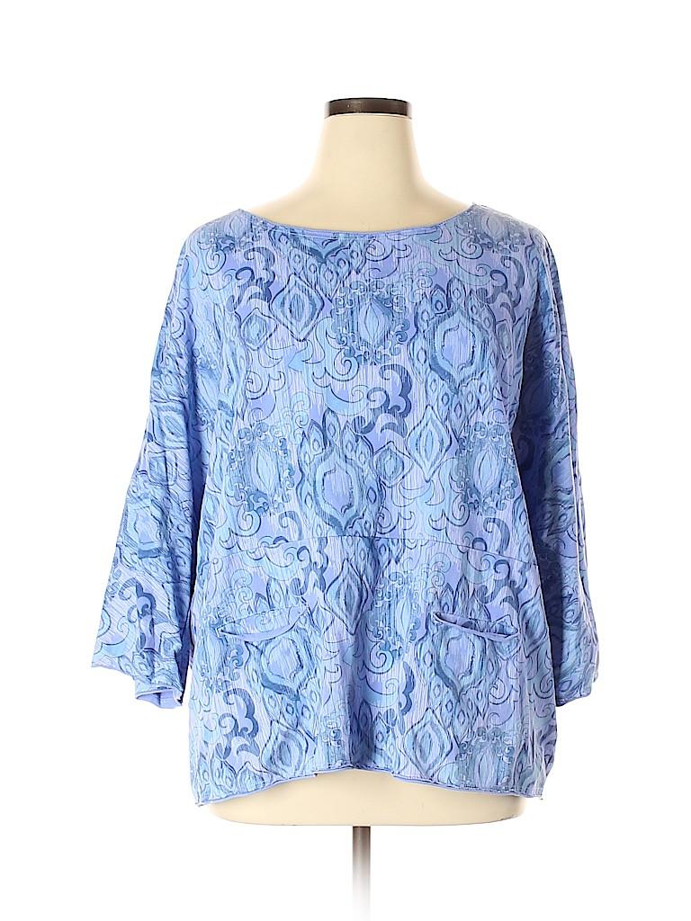 Fresh Produce Women 3/4 Sleeve Blouse Size XL - XXL