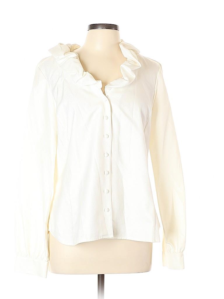 Ellen Tracy Women Long Sleeve Blouse Size 14