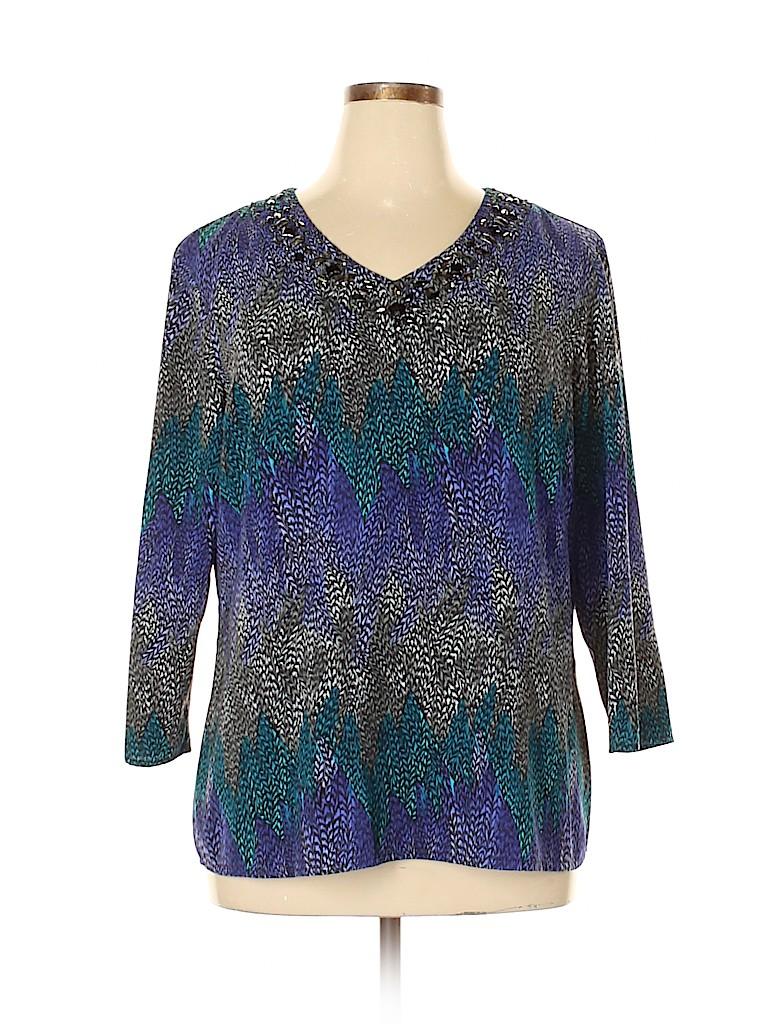 Cato Women 3/4 Sleeve Blouse Size XL