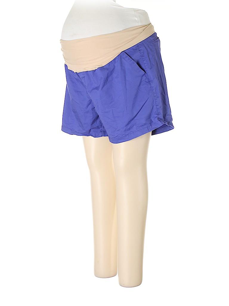 Old Navy - Maternity Women Khaki Shorts Size 18 (Maternity)