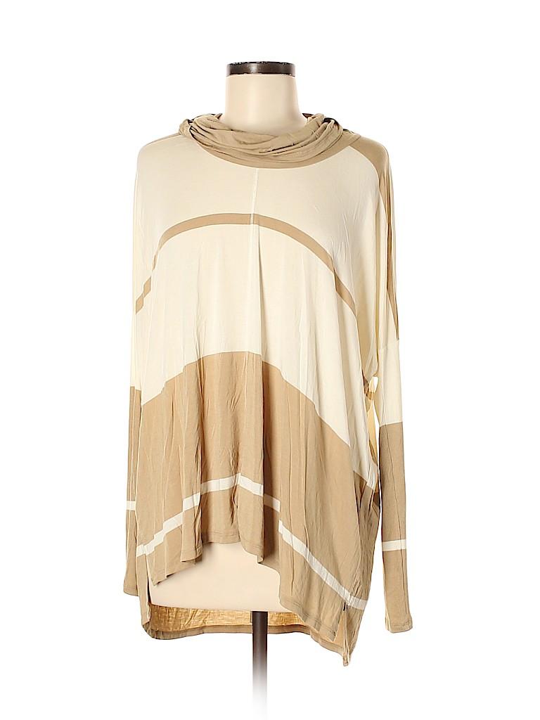 Bordeaux Women Long Sleeve Top Size M