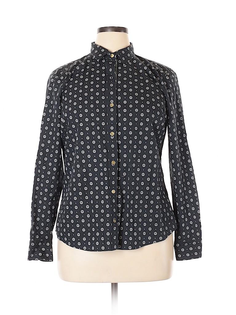 Nautica Women Long Sleeve Button-Down Shirt Size XL