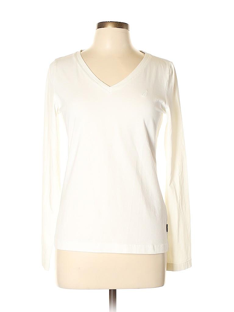 Nautica Women Long Sleeve T-Shirt Size L