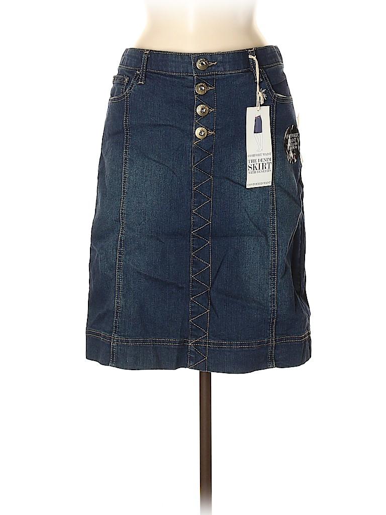Style&Co Women Denim Skirt Size 8