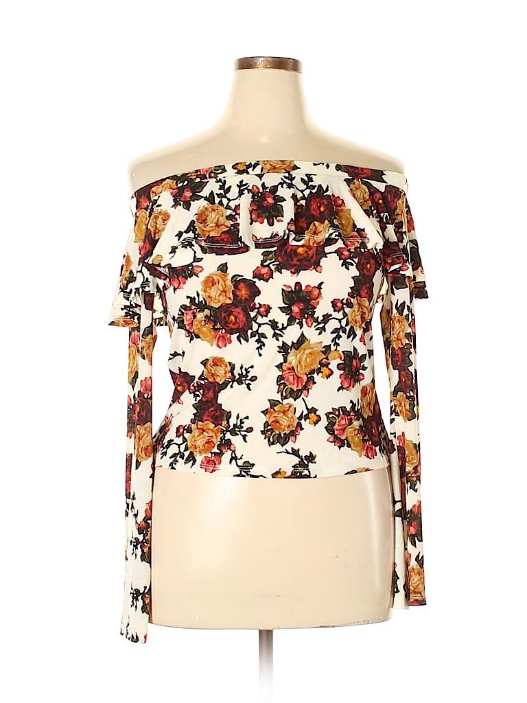 Mimi Chica Women Long Sleeve Top Size L