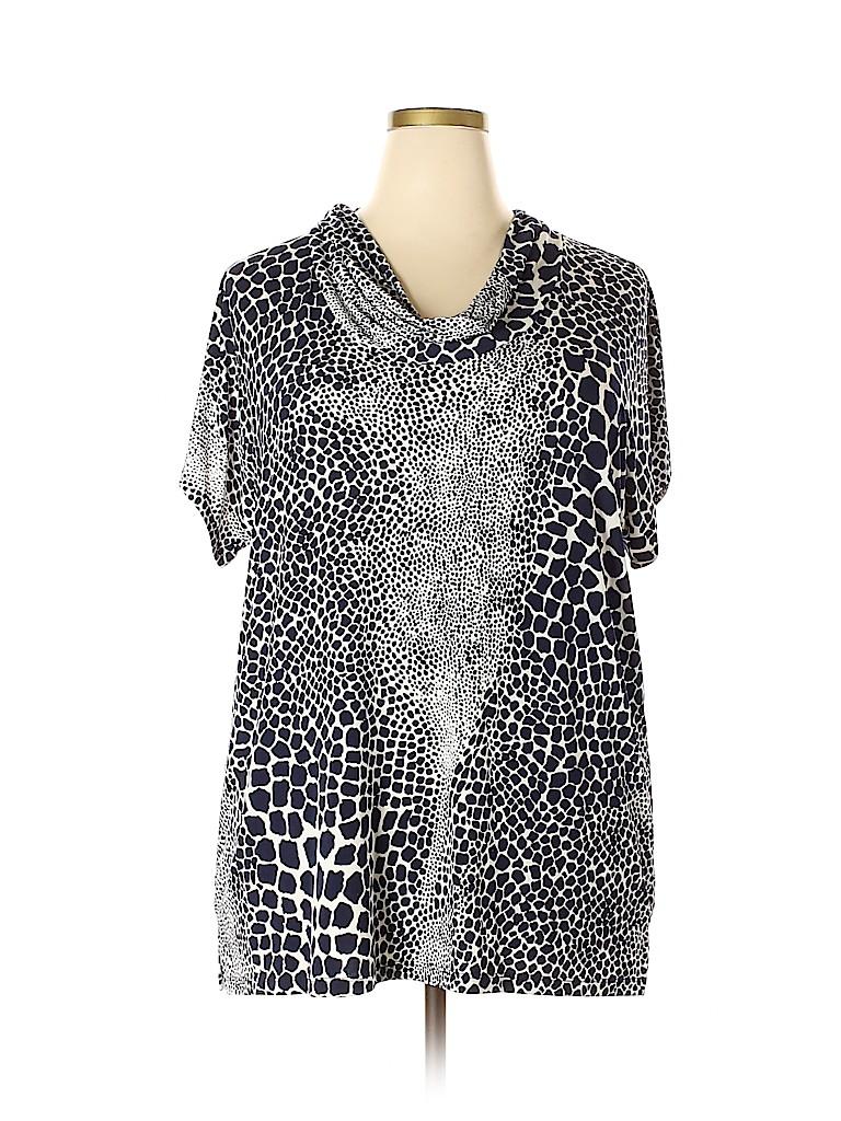 Susan Graver Women Short Sleeve Top Size 1X (Plus)