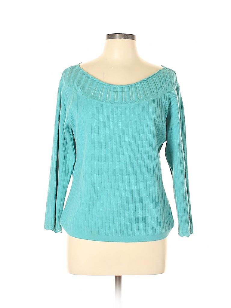 Evan Picone Women Pullover Sweater Size L