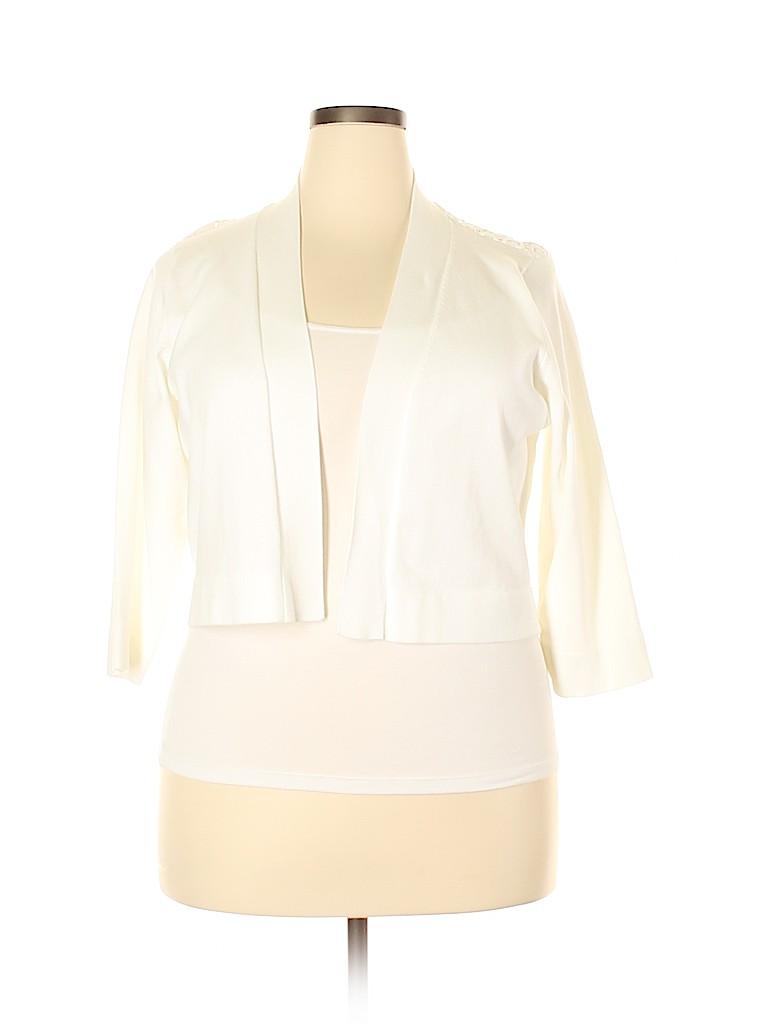 Calvin Klein Women Cardigan Size 1X (Plus)