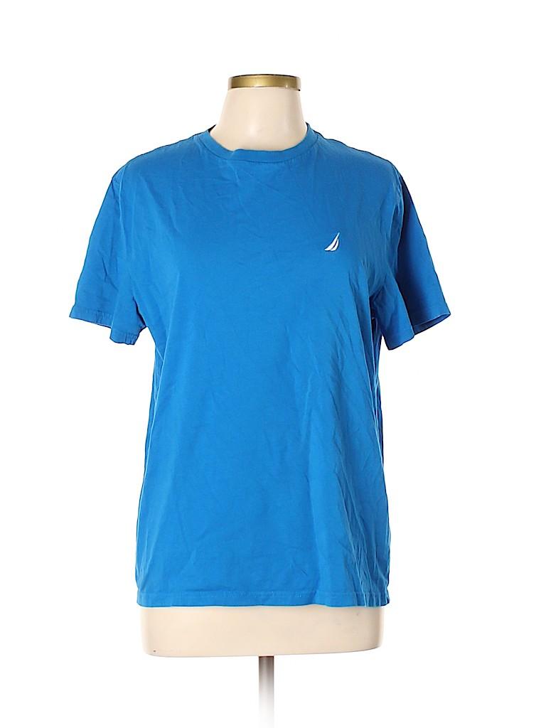 Nautica Women Short Sleeve T-Shirt Size L