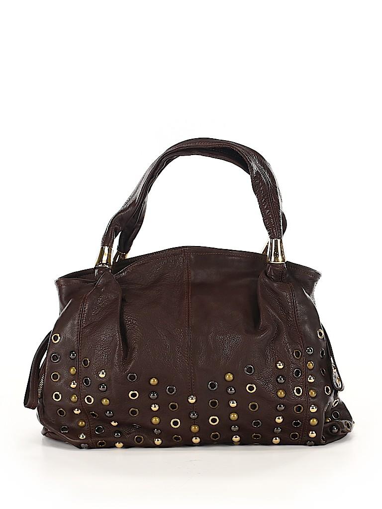 B Makowsky Women Leather Satchel One Size