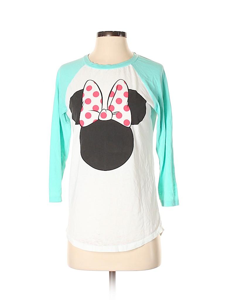 Disney Women 3/4 Sleeve T-Shirt Size S