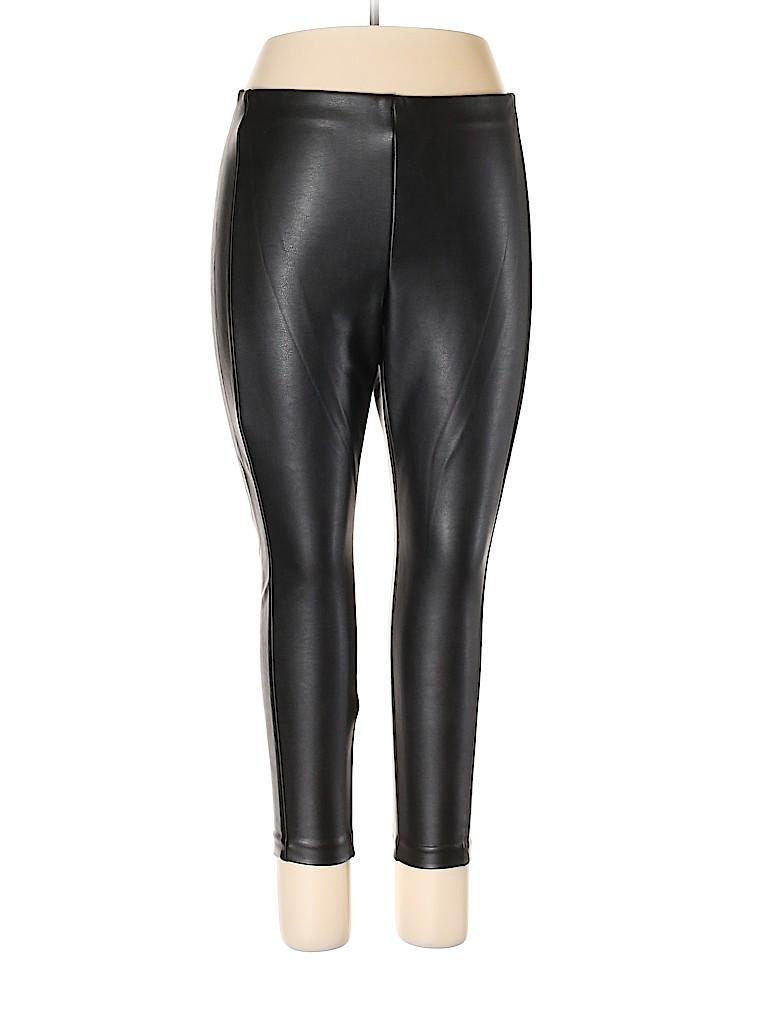 Banana Republic Women Faux Leather Pants Size 14 (Petite)