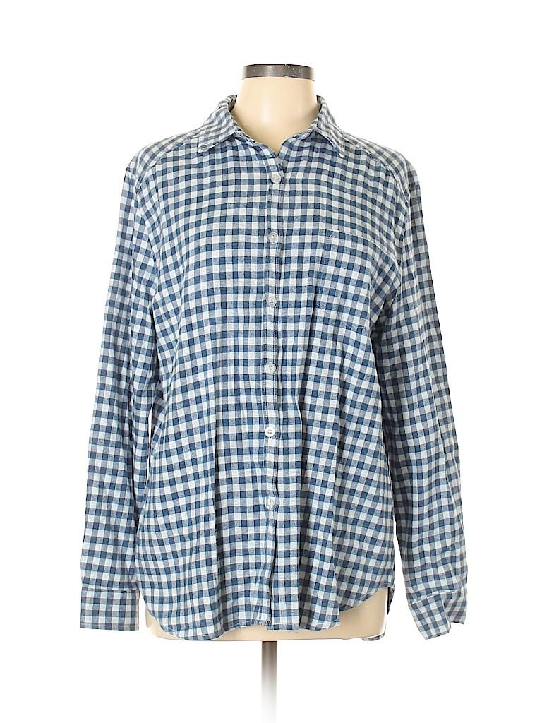 Amaryllis Women Long Sleeve Button-Down Shirt Size XL